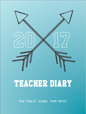 Teacher Daily Planner Diary NSW Public School Term Dates