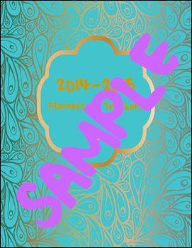 Teacher Daily Planner Peacock Cover