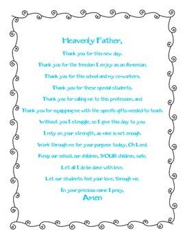 Teacher Daily Prayer 2014