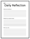 Teacher Daily Self-Reflection