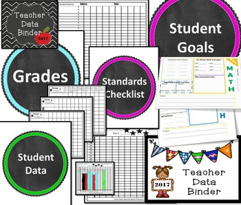 Texas Teacher Data Binder