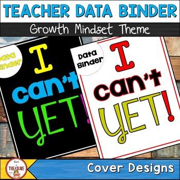 Teacher Data Binder (Editable) Growth Mindset Theme
