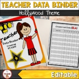 Teacher Data Binder (Editable) Hollywood Theme