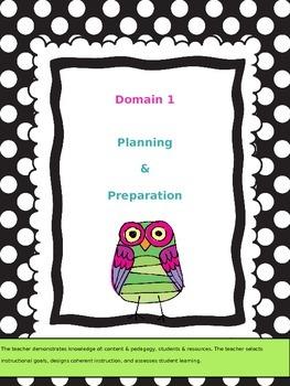 Teacher Data Binder: Danielson Framework- Owls (Editable)
