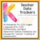 Teacher Data Trackers Kindergarten
