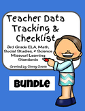 Teacher Data Tracking & Checklist Bundle Missouri Learning Standards 3rd Grade