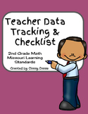 Teacher Data Tracking & Checklist Math Missouri Learning Standards 2nd Grade