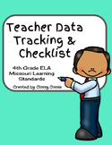 Teacher Data Tracking & Checklist ELA Missouri Learning Standards 4th Grade