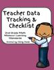 Teacher Data Tracking & Checklist Missouri Learning Standards Bundle