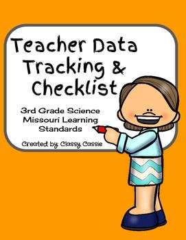 Teacher Data Tracking & Checklist Science Missouri Learnin