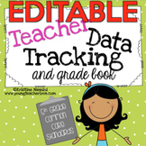 Teacher Data Tracking and Grade Book {5th Grade ELA & Math} EDITABLE