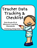 Teacher Data Tracking and Checklist ELA Missouri Learning Standards  3rd Grade