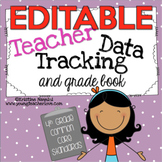 Teacher Data Tracking and Grade Book {4th Grade ELA & Math} EDITABLE