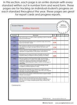 Teacher Data Tracking and Grade Book - 4th Grade ELA and Math - EDITABLE