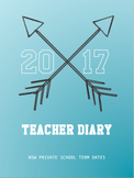 Teacher Day Planner Diary NSW Private School Term Dates