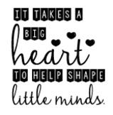 Teacher Decal: Big Heart