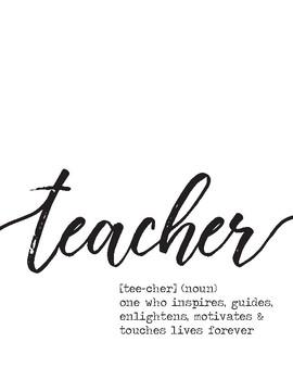 Teacher 'Definition' Printable