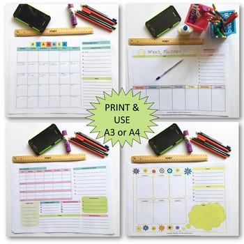 Teacher Desk Planners