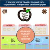 Teacher Desktop Organizer Wallpaper