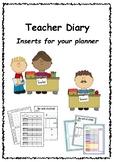 Teacher Diary - for your teacher planner