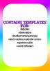 Document bundle:Pre-K professional time saving organisation templates~EYLF links