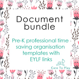 Document bundle:Pre-K professional time saving organisatio