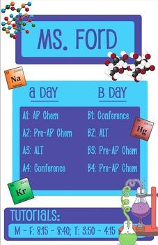Teacher Door Sign - Chemistry, Science