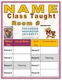 Teacher Door Sign w/ Schedule