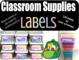 Teacher Toolbox Labels Watercolor