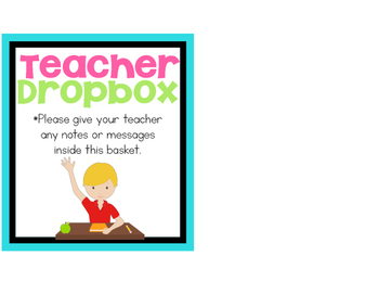 Teacher Dropbox Label