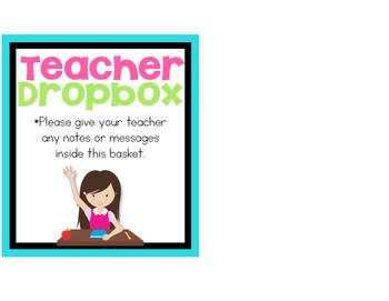 Teacher Dropbox Label