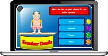 Teacher Dunk quiz game template