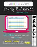 Editable Teacher Year Binder Planner - Back to School DIGI