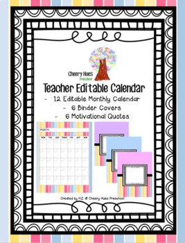 Teacher Editable Calendar