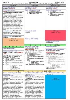 Teacher Editable Daybook!