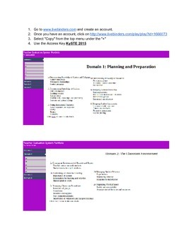 Danielson Teacher Effectiveness Domain Teacher Portfolio Website