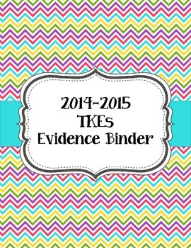 Teacher Effectiveness Keys (TKEs) Binder in Bright Chevron