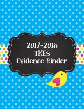 Teacher  Keys Effectiveness (TKEs) Binder in Teal Boho Birds