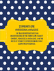 Teacher Effectiveness Keys (TKEs) Binder in Navy and White Polka Dots