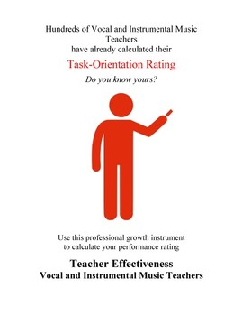 Teacher Effectiveness: Vocal and Instrumental Music