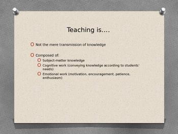 Teacher Efficacy, Teacher Effectiveness- For Teacher PD/Beginning Teachers
