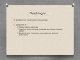 Teacher Efficacy, Teacher Effectiveness- For Teacher PD/Be