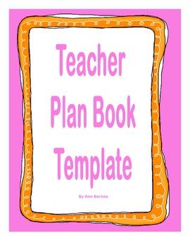 Teacher Elementary Plan Book Template
