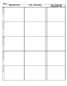 Teacher Elementary Plan Book Template by Miss Barnes | TpT