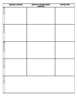Teacher Elementary Plan Book Template