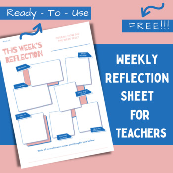 Teacher End-Of-The-Day Reflection Sheets - Organization