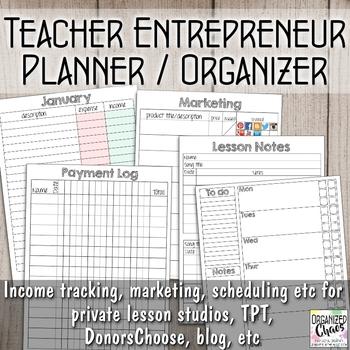 Teacher Entrepreneur Planner & Organizer