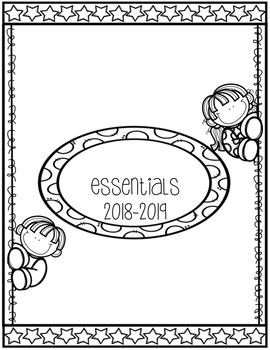 Teacher Essentials: 2016-2017 Planner, Organizer, Gradebook (Black and White)