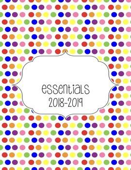 Teacher Essentials: 2017-2018 Planner, Organizer, Gradebook (Rainbow)