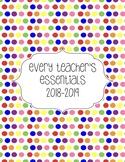 Teacher Essentials: 2018-2019 Planner, Organizer, Gradebook (Rainbow)